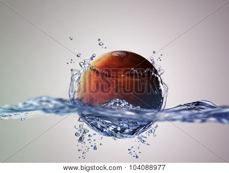 Discovered liquid water on the planet mars, great science discovery. Elements of this image furnishe