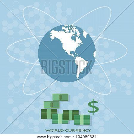 International Finance World Map Global Money America Business Traffic Monetary System