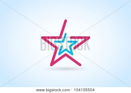 Star vector logo. Star icon. Leader boss star, winner, star rating, rank. Star astrology symbol. Starburst logo isolated. Star icon logotype. Sport star logo. Astronomy star logo. Monogram star logo