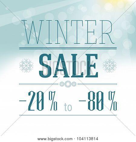 Winter Sale Label