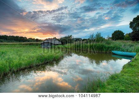 Beautiful Sunset On The Norfolk Broads