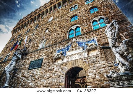 Front View Of Palazzo Vecchio In Hdr