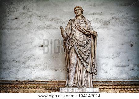 Sabina Statue On Grunge Wall