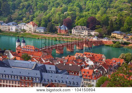 Beautiful panorama view of Heidelberg, Germany