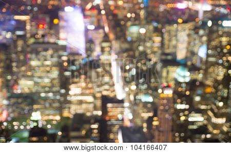 Blurred Aerial Image Of New York City