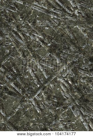 Artificial gouged and scarred metal texture