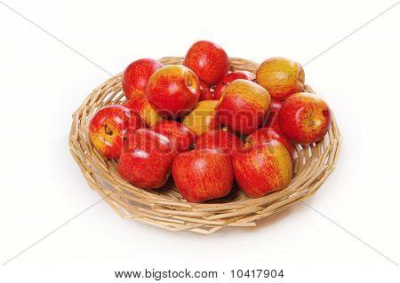 Apples on handbasket