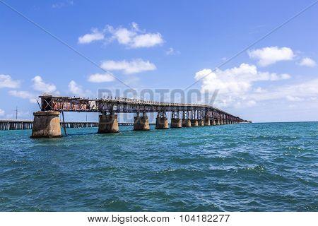 Old Bahia Honda Rail Bridge, Bahia Bay State Park, Florida Keys
