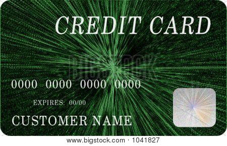 Mock Green Credit Card 3