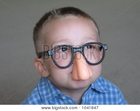 Cute Boy With Funny Glasses