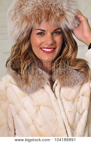 Pretty Woman Wearing Winter Fashion