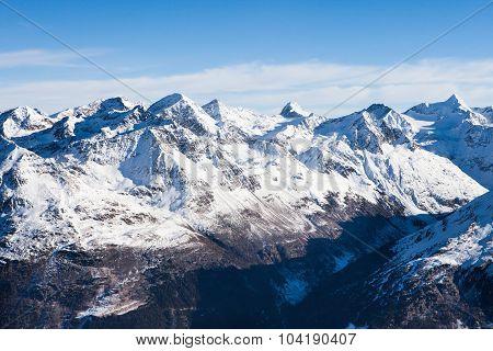 Mountain Range In Solden