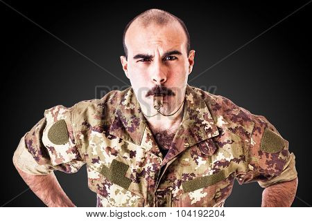 Drill Sergeant With Whistle