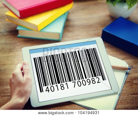 Bar Code Branding Data Coding Encryption Concept