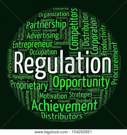Regulation Word Means Text Dictum And Rule