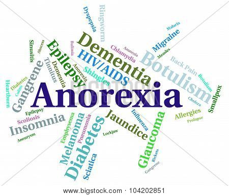 Anorexia Illness Indicating Poor Health And Contagion poster