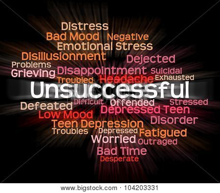 Unsuccessful Word Shows In Vain And Abortive