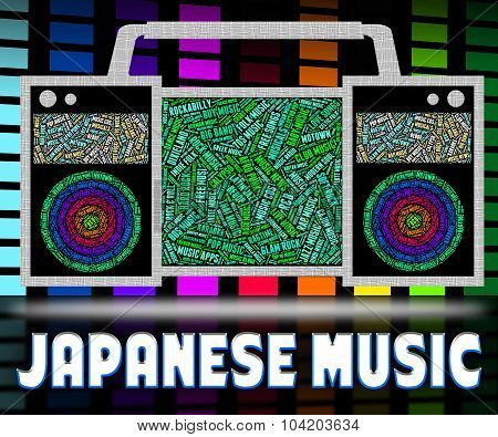 Japanese Music Represents Sound Tracks And Acoustic