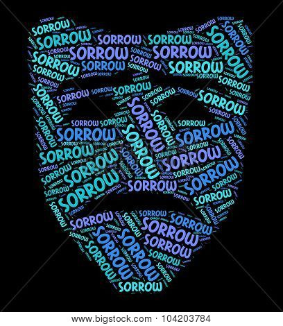 Sorrow Word Means Grief Stricken And Dejected