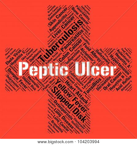 Peptic Ulcer Shows Lower Esophagus And Afflictions
