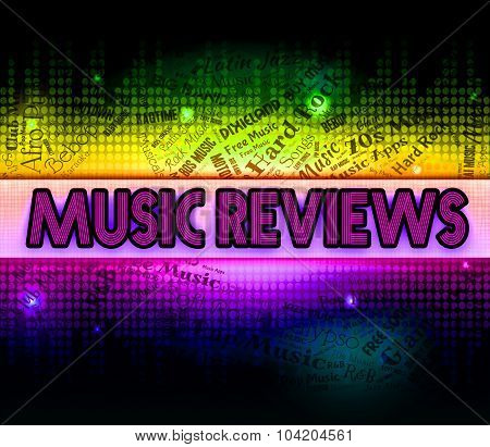 Music Reviews Indicating Sound Track And Evaluation poster