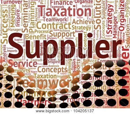 Supplier Word Means Middleman Merchant And Wholesale