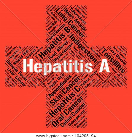 Hepatitis A Showing Ill Health And Inflammatory poster