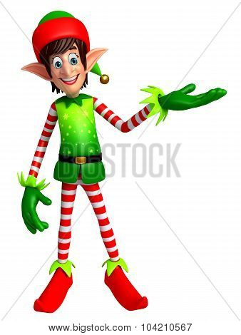 3d rendered illustration of elves cartoon character poster