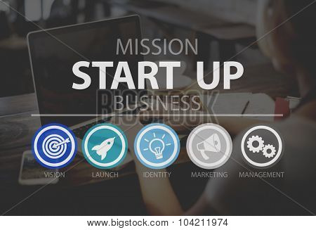 poster of Start Up Opportunity Growth Success Chance Begin Concept