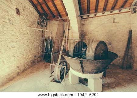 Ancient oil mill Laneia Cyprus