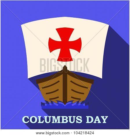 Happy Columbus Day app art