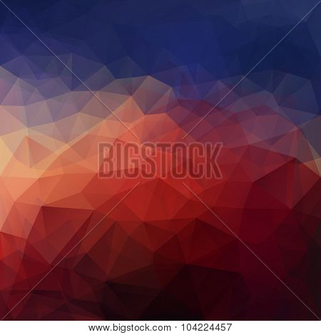 Dramatic triangle background