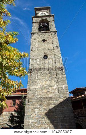 The church Agia Paraskevi tower Town of Metsovo, Epirus