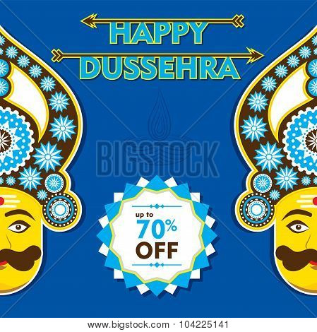 happy dussehra  greeting design