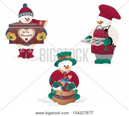 Isolated Christmas  Snowman