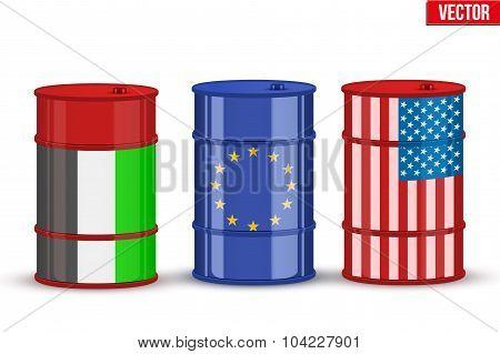 Benchmark oil BRENT WTI Dubai Crude