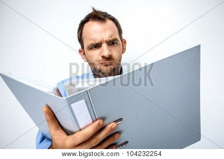 Funny and creative concept for businessman