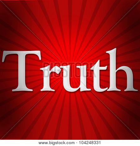 Truth Text Red Black Burst