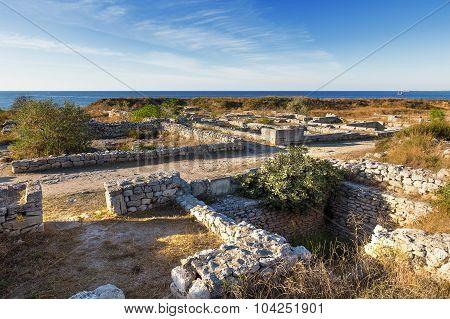 Ruins Of Chersonesus - Ancient Greek Town Near Modern Sevastopol. Unesco World Heritage Site.