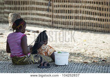 African Hairdresser