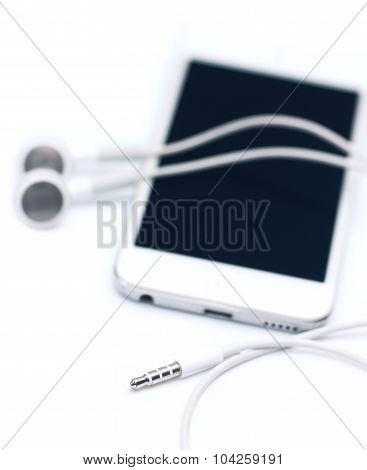 Mp3 Player And Headphones.