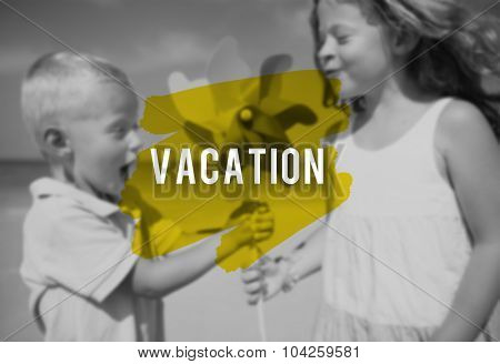 Vacation Weekend Relax Travel Holiday Concept poster