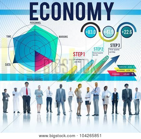 Economy Finance Bookkeeping Budget Investment Concept poster