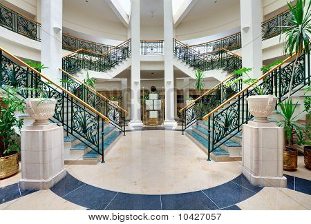 Stairs With Forged Handrails