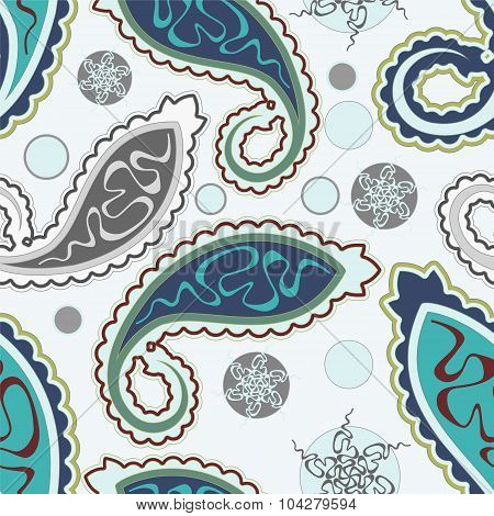 Seamless Paisley Background. Vector Illustration