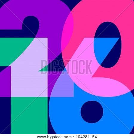 Numeral 2016 In Vector