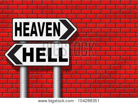 heaven or hell devils and angels salvation from evil save your soul and spirit search and find Jesus and God