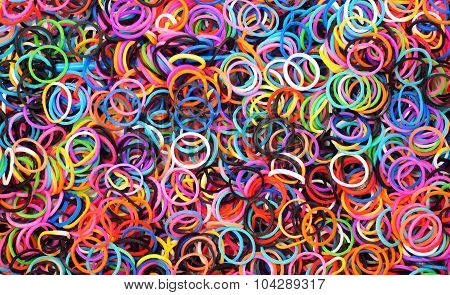 Colourful rubber rings