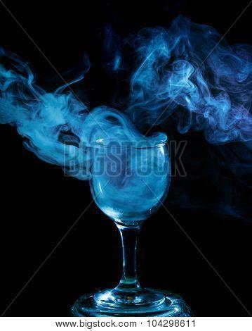 Blue Smoke In The Glass. Halloween.