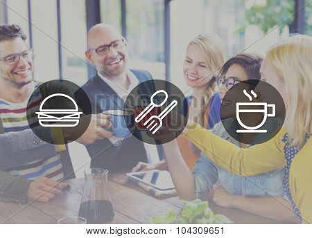 Meal Lunch Breakfast Fastfood Hamburger Concept poster
